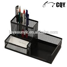 wire mesh desk organizer multifunctional office stationery metal mesh desk organizer with pen