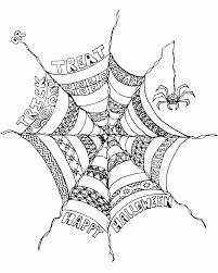 Free Printable Halloween Coloring Pages Adults Many Interesting Spider Web Coloring Page