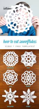 How To Make A Snowflakes Out Of Paper - how to cut snowflakes tutorial free templates it s