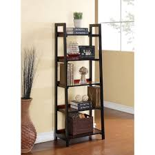linon home decor camden black cherry ladder bookcase