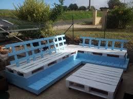 fabrication canapé en palette fabrication en palette d un salon de jardin