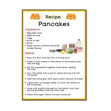 pancake recipe poster pancake day shrove tuesday topic