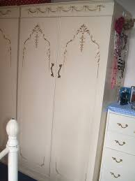 pretty vintage shabby chic cream ornate french louis style