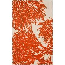 orange 4 x 6 modern area rugs rugs the home depot