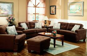 Stylish Living Room Chairs Brown Terry Cloth Living Room W Button Tufted Seats
