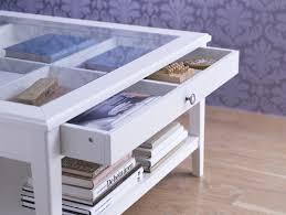 glass top display coffee table various glass display coffee table with drawer of top ataa dammam