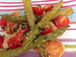cuisine legere et dietetique recette diététique et légère poulet sauté aux asperges