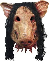 amazon com scary pig mask with hair for halloween costume make up