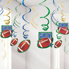 nfl drive superbowl american football hanging swirl decorations