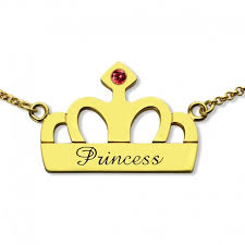 Stamped Name Necklace Handstamped Princess Name Necklace Personalizedperfectly