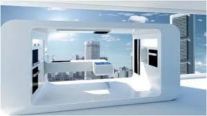delectable futuristic white black colors kitchen featuring white