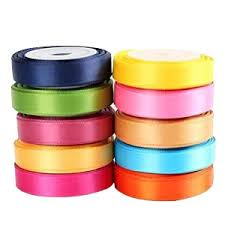 cheap satin ribbon laribbons solid color satin ribbon asst 2 10 colors