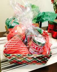 christmas gift basket diy styled to party