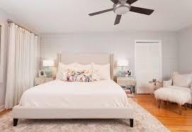 Beige Upholstered Bed Drum Lamp Shades Bedroom Transitional With Beige Area Rug Beige