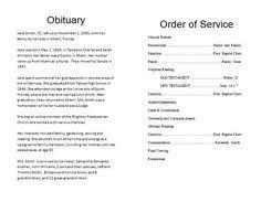make a funeral program memorial bulletins for funerals funeral memorial program