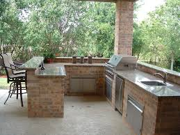 outdoor kitchen ideas on a budget tile floor marble countertops