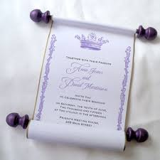 wedding scroll invitations prince birthday party invitation from artful beginnings