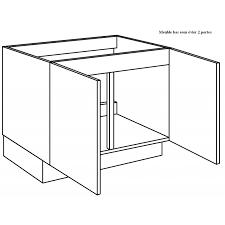 meuble de cuisine sous evier meuble sous évier de cuisine largeur 90cm
