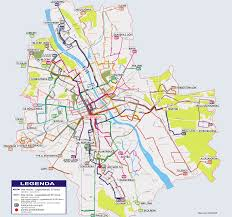 Bus Route Map Map Of Warsaw Bus Suburban Bus And Night Bus Stations U0026 Lines
