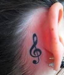31 best treble clef tattoo behind ear images on pinterest