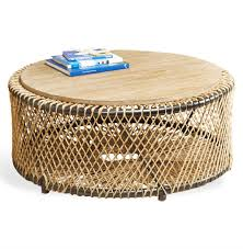 Coastal Style Coffee Tables Saranda Style Wood Rope Coffee Table Kathy Kuo Home