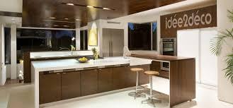 faux plafond design cuisine cuisine noir mat