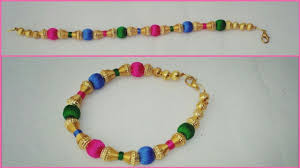 bracelet thread images How to make silk thread bracelet with beads how to make silk jpg
