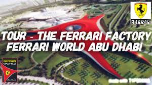 ferrari factory tour of the ferrari factory ferrari world abu dhabi