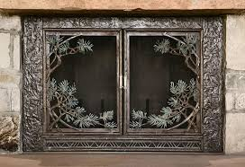 pine bough fireplace screen fillerup