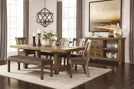 Dining Room Side Chairs Tamilo Gray Brown Rect Dining Room Ext Table 5 Uph Side