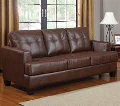Sleeper Leather Sofa Samuel Sofa Sleeper In Brown Leather By Coaster 504070