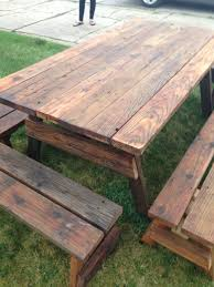 Make Outdoor Picnic Table by Best 25 Outdoor Picnic Tables Ideas On Pinterest Folding Picnic