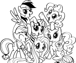 pony free coloring pages girls coloring