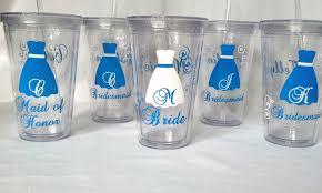 bridesmaid cups and bridesmaids tumblers 5 wedding acrylic