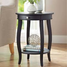 small living room end tables better homes and gardens round accent table with drawer multiple