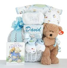 personalized oh boy miracle baby boy gift basket ships