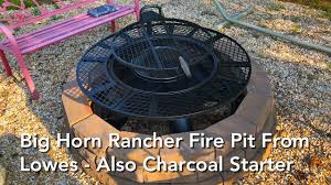 cowboy fire pit big horn rancher fire pit from lowes also charcoal starter