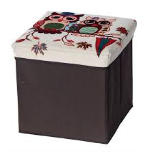 Folding Storage Ottoman Owl Folding Storage Ottoman Creative Living Patio Foldable Storage