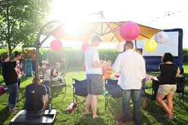 outdoor party ideas movie night birthday party pear tree blog
