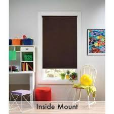 Portable Blackout Blinds Blackout Roller Shades Shades The Home Depot