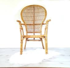 bamboo arm chair vintage bentwood bamboo rattan high back fan