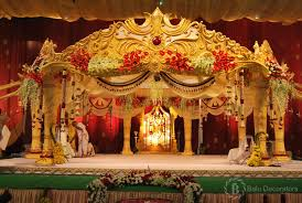 these are the stage decorations of marriage its also