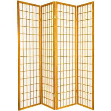 5 ft honey 5 panel room divider dc60 hon 5p the home depot