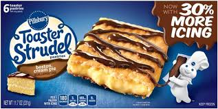 Pillsbury Toaster Strudel Boston Cream Pie Toaster Pastries 6ct