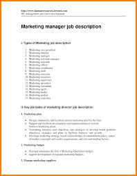 job descriptions for marketing manager business plan templates
