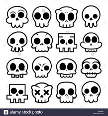 vector skull icons sugar skulls