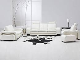 ultra modern 3pc living room set leather paris white ultra modern 3pc living room set leather paris white for plans 12