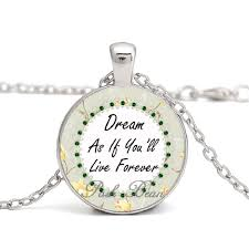 jewelry party favors inspirational saying necklace motivational saying glass cabochon