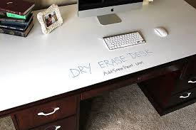Diy Home Desk Stylish Diy Erase Paint Desk