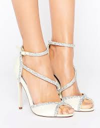 wedding shoes asos asos asos hibiscus bridal embellished heeled sandals